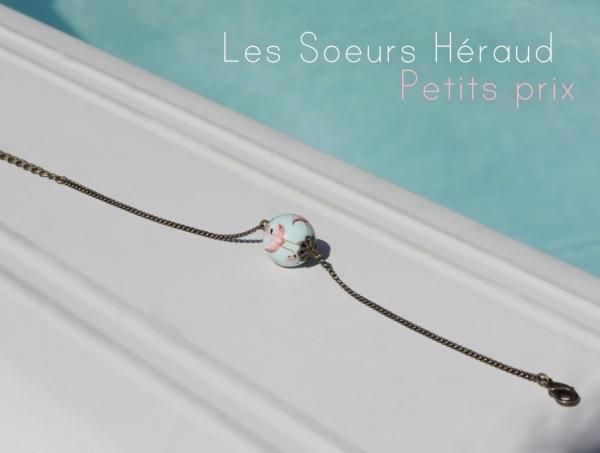 solde, les soeurs Héraud, bijoux peints, bracelet, sautoir